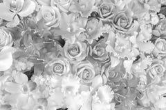 Artystyczny tło klingeryt Kwitnie w czarny i biały ilustracji