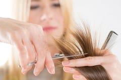 artystyczny tnący włosiany hairdress ilustraci wektor Obrazy Royalty Free