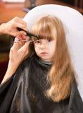 artystyczny tnący włosiany hairdress ilustraci wektor Zdjęcia Royalty Free