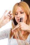 artystyczny tnący włosiany hairdress ilustraci wektor Fotografia Royalty Free