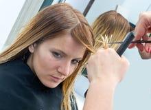 artystyczny tnący włosiany hairdress ilustraci wektor Obraz Stock