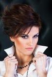 Artystyczny uzupełniał na caucasian pięknym modelu Zdjęcie Royalty Free