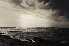 Artystyczny widok dla Atlantyckiego oceanu Zdjęcie Royalty Free