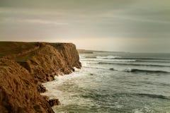 Artystyczny widok dla Atlantyckiego oceanu i falezy Moher Zdjęcie Stock