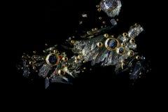Artystyczny wizerunek witamina C w krystalizującej formie Obrazy Royalty Free