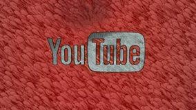 Artystyczny Youtube logo Zdjęcia Royalty Free