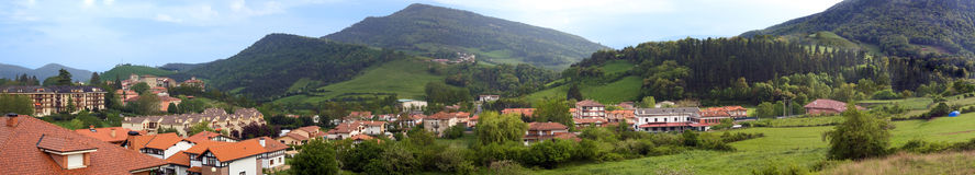 Artziniega panoramic view. A Basque Country village panoramic view Royalty Free Stock Image