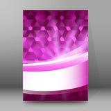 Artzusammenfassung glow52 der Hintergrundberichtbroschüre Deckblätter A4 Stockfotos