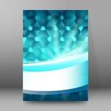 Artzusammenfassung glow53 der Hintergrundberichtbroschüre Deckblätter A4 Stockbild
