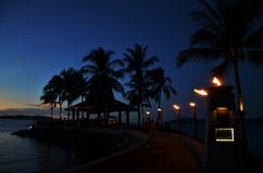 Aru Sabah de tanjung de coucher du soleil images stock