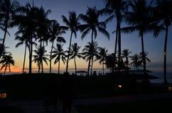 Aru Sabah de tanjung de coucher du soleil photo libre de droits