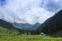 Aru valley, Pahalgam,kashmir. Ary valley is a beautiful valley situated close to Pahalgam in Anantnag district of Jammu and Kashmir state of India, Asia Royalty Free Stock Image