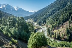 Aru Valley view point royalty free stock photo