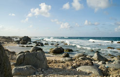 aruba海岸线 免版税库存图片