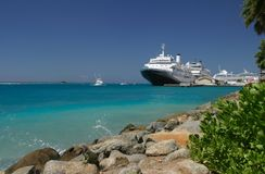 Aruba. Cruise ship in port of Aruba,West Indies Stock Photo