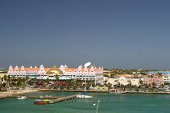 Aruba. Port of aruba,West Indies Stock Photo