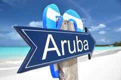 Aruba arrow. On the beach Stock Photography