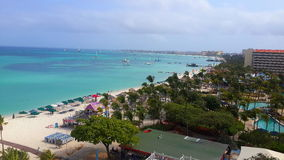Aruba beach. Top view Stock Photo