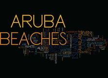 Aruba Beaches Word Cloud Concept. Aruba Beaches Text Background Word Cloud Concept royalty free illustration