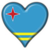 Aruba button flag heart shape Royalty Free Stock Images