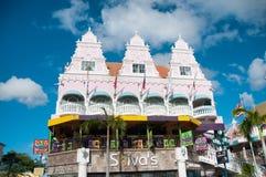 Aruba (caraibica) - alloggi gli esterni a Oranjestad Immagine Stock Libera da Diritti