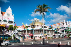 Aruba (Caribbean) - House exteriors at Oranjestad Stock Photo