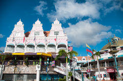 Aruba (Caribbean) - House exteriors at Oranjestad Royalty Free Stock Photo