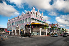Aruba (Caribbean) - House exteriors at Oranjestad Stock Photos