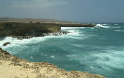 Aruba Coast 4. Picture taken on the rugged coast of Aruba stock photos