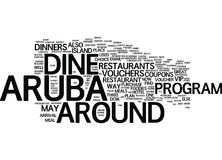 Aruba Dine Around Word Cloud Concept illustration stock