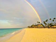 Aruba double Rainbow. Picture from aruba an island in the caribbean sea royalty free stock image