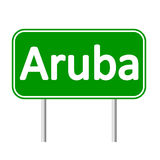 Aruba drogowy znak Obrazy Stock
