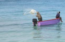 Aruba Fishermen Fish With Nerts Royalty Free Stock Images