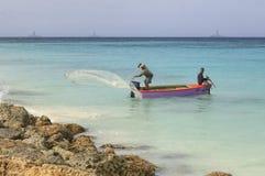 Aruba Fishermen Fish With Nerts Royalty Free Stock Photo