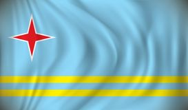 aruba flagę Fotografia Royalty Free