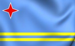 aruba flagę Obrazy Stock