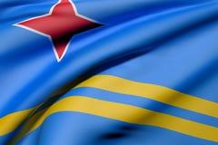 Aruba flaga falowanie royalty ilustracja