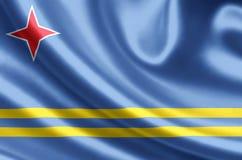 Aruba flaga ilustracja royalty ilustracja