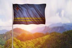 aruba flagga Royaltyfri Fotografi