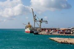 Aruba Freight Operation Royalty Free Stock Photography