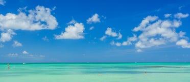 Aruba-Insel Ansicht vom Strand Stockfotos