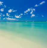 Aruba island. View from the beach Royalty Free Stock Image