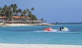 Aruba no mar das caraíbas Imagens de Stock Royalty Free