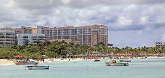 Aruba no mar das caraíbas Foto de Stock