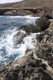 Aruba norr kust royaltyfria bilder