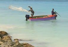 Aruba på det karibiska havet Arkivfoto