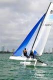 Aruba på ISAFEN som seglar världscupen Miami Arkivbild