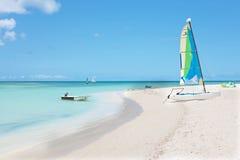 Aruba am Palm Beach in den Karibischen Meeren Lizenzfreies Stockfoto