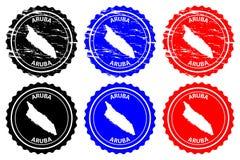 Aruba pieczątka ilustracji