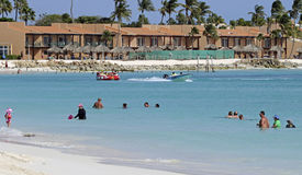 Aruba Resort On The Caribbean Sea Royalty Free Stock Photography